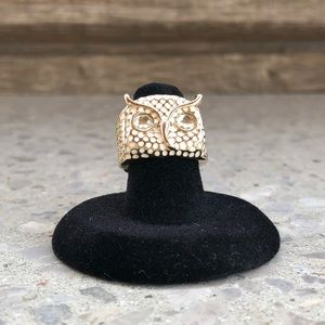 Jewelry - Owl Ring - Gold & White - Size 6